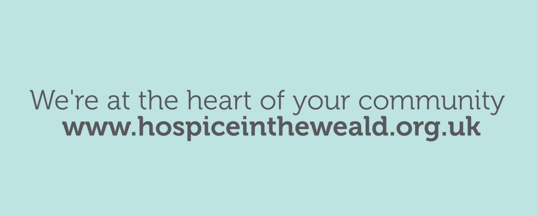 Strengthening brand identity, Hospice in the Weald descriptor.