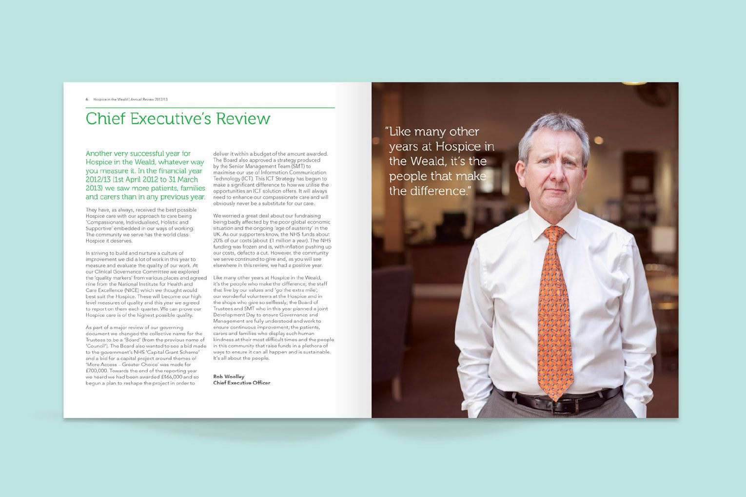 CEO spread in the Annual Review.