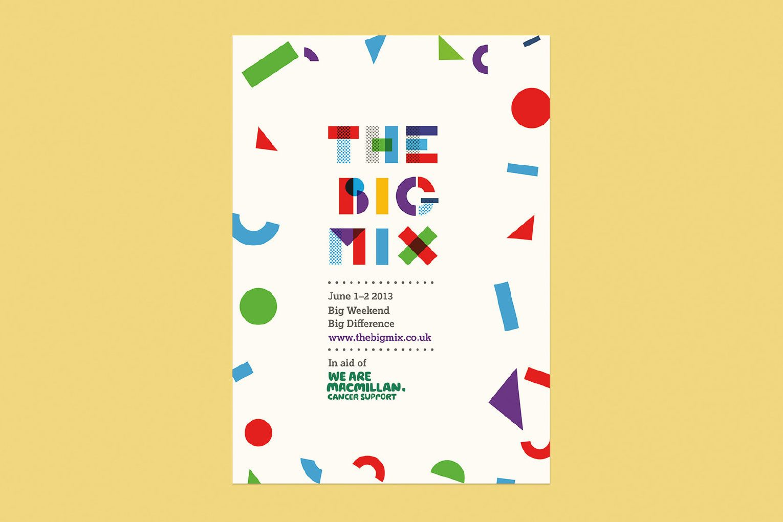 The Big Mix brand poster.