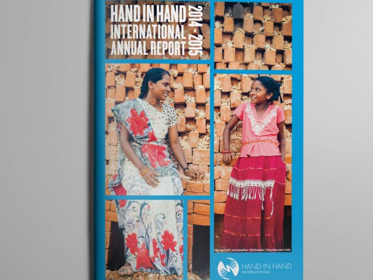 Cover of the Hand in Hand Annual Report demonstrating impact of their work helping small businesses