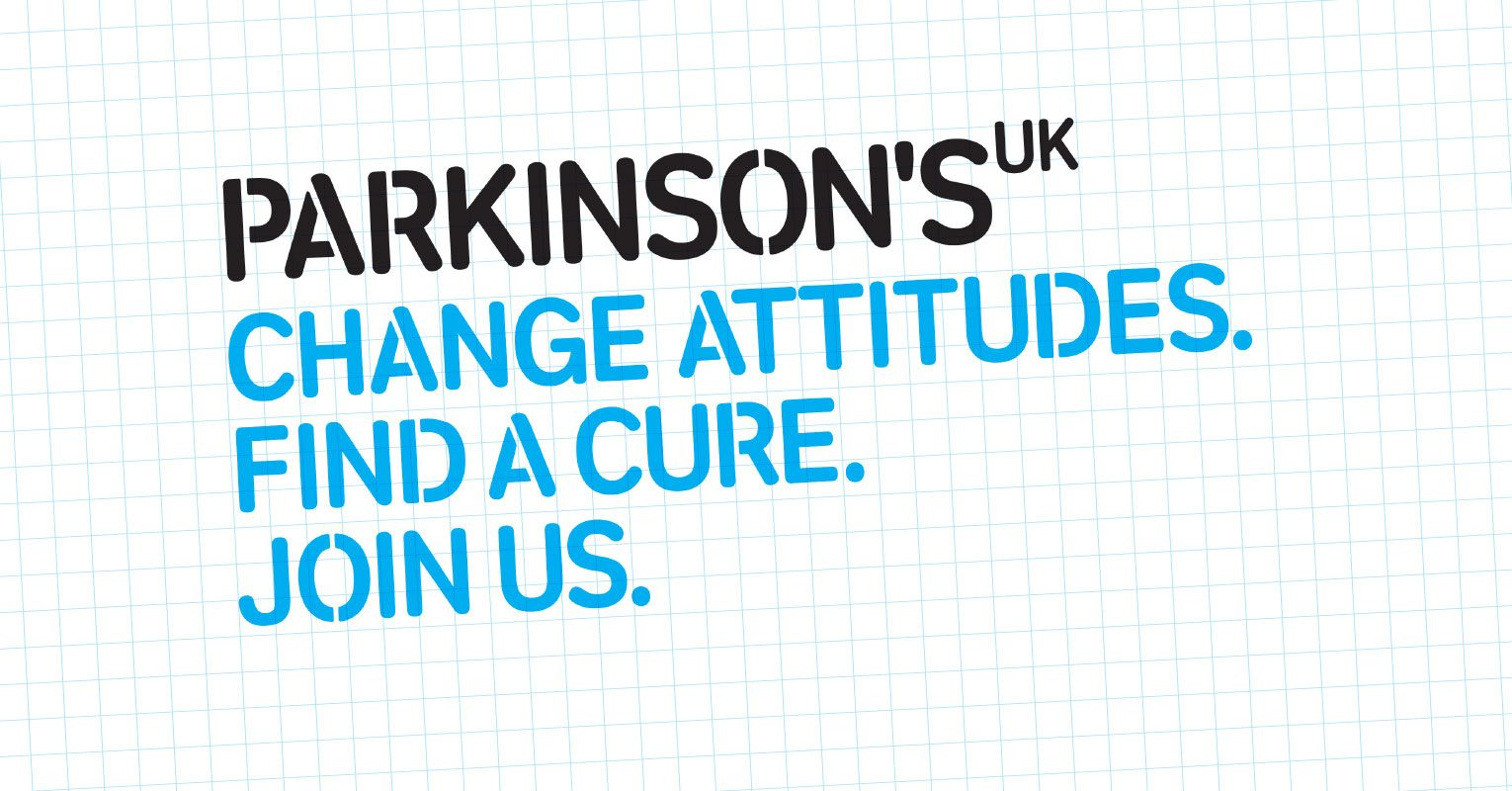 Parkinson's UK call to action - Change attitudes. Find a cure. Join us.