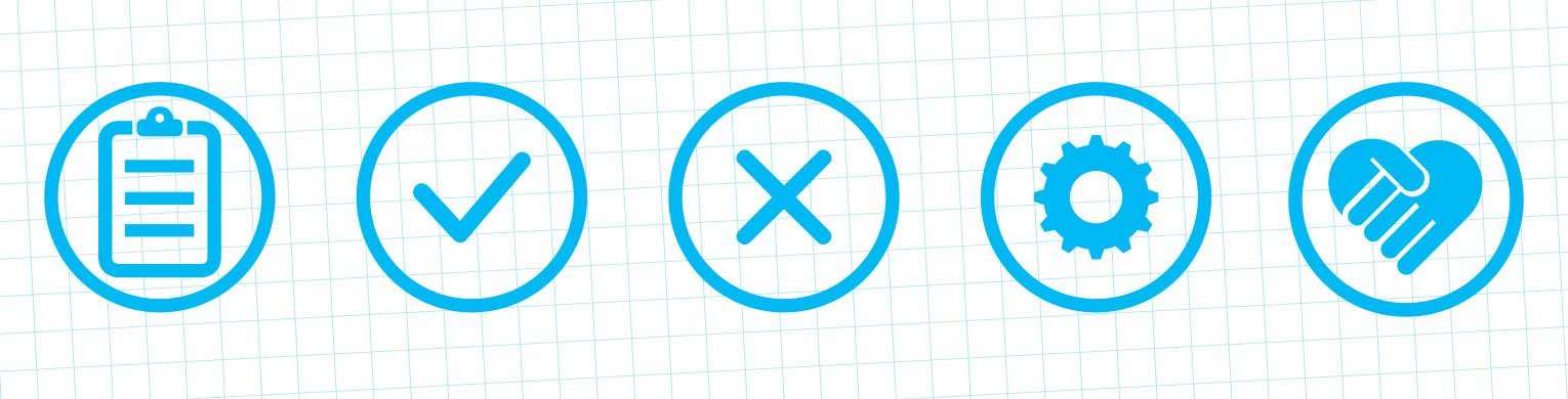 Parkinson's Volunteer Induction brand icons.
