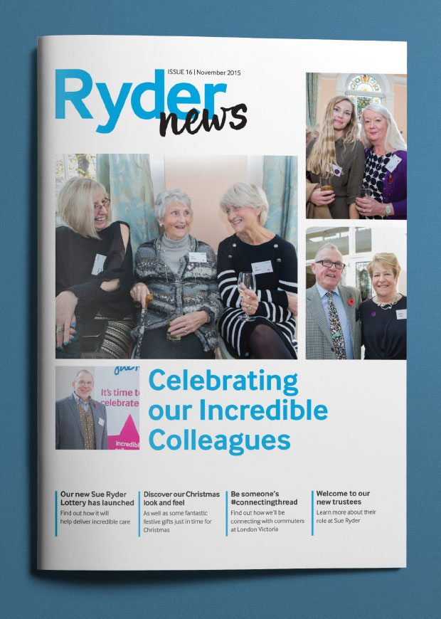 Internal staff magazine redesigned front cover of RyderNews.
