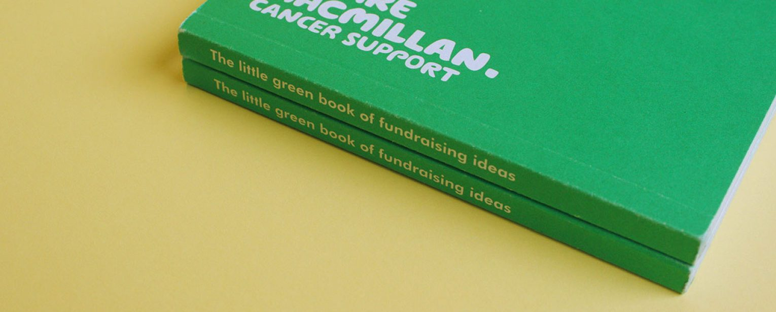 Fundraising ideas in Macmillan's little green book.