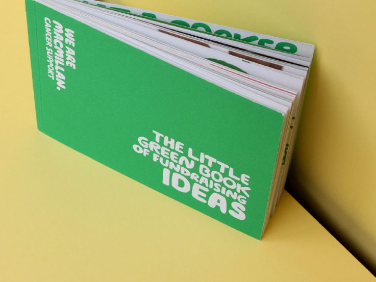 Fundraising ideas in Macmillan's Little Green book - full cover.