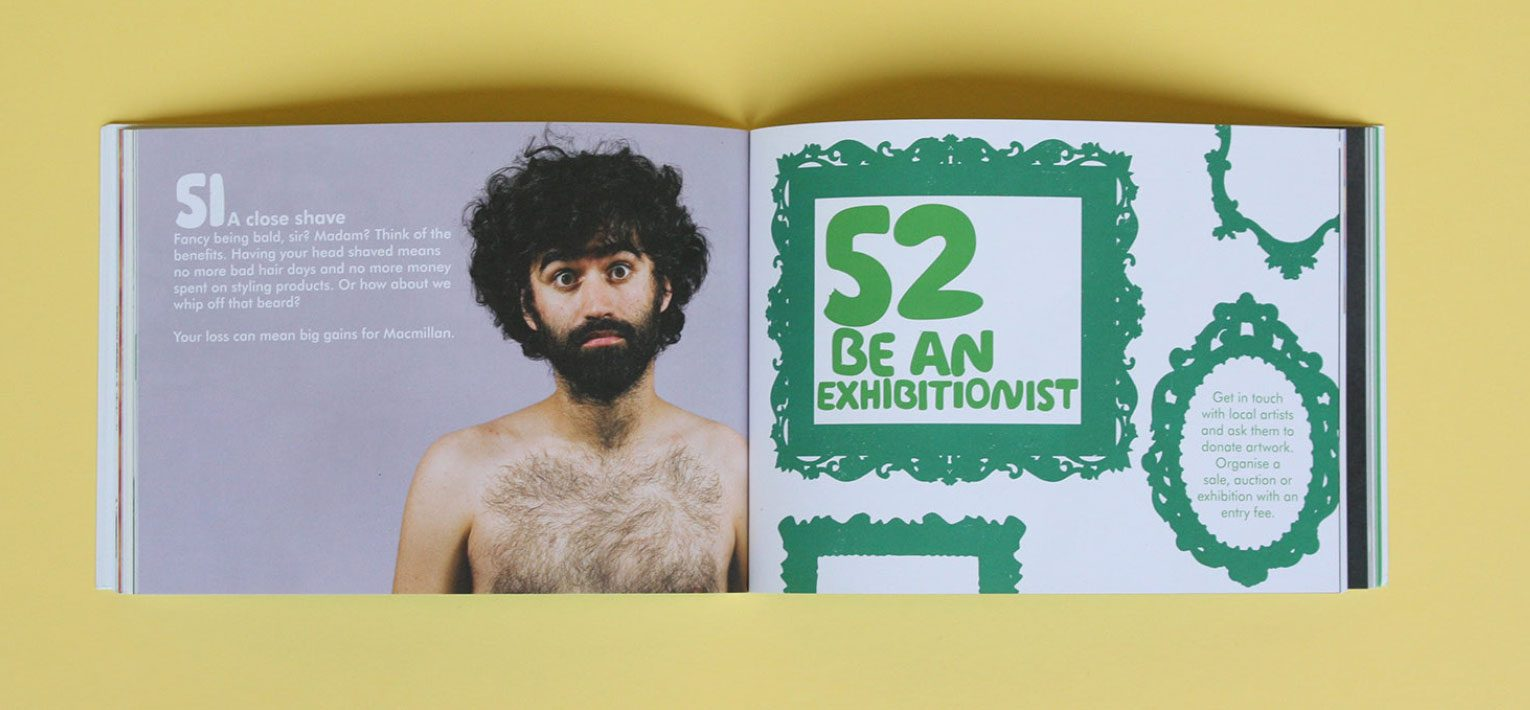 Ideas 51 and 52 from the Macmillan green book of fundraising ideas.