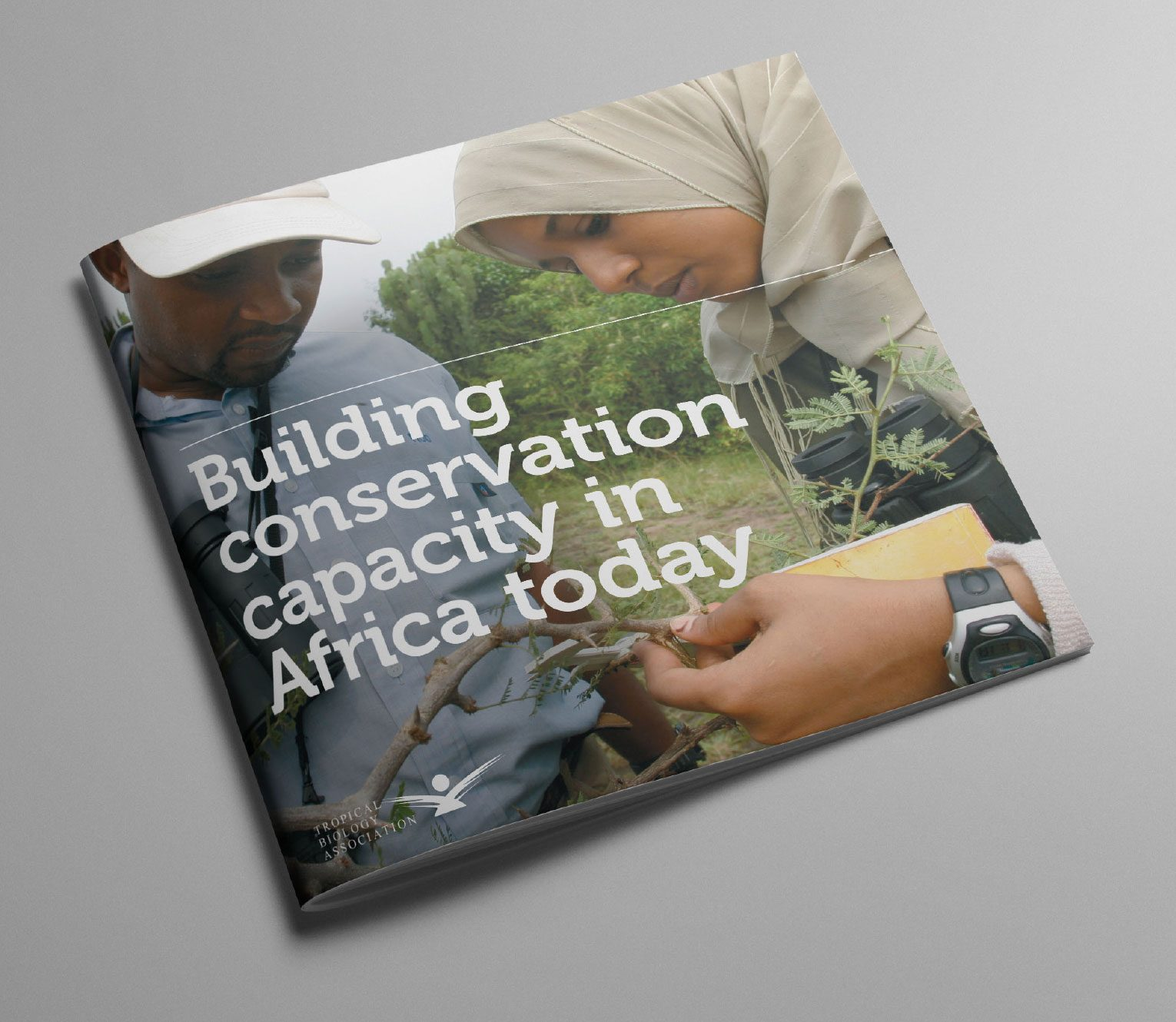 Case for support front cover of the TBA conservation brochure.