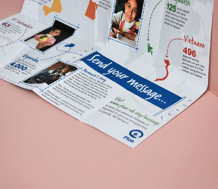 Copy promoting the message board to bring supporters and beneficiaries closer together.