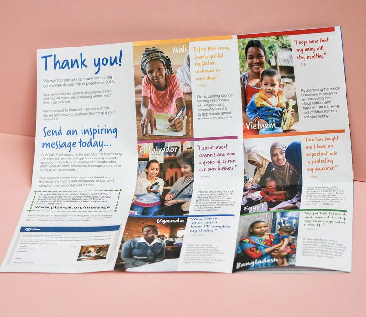 Case studies of how Plan UK is helping girls around the world.