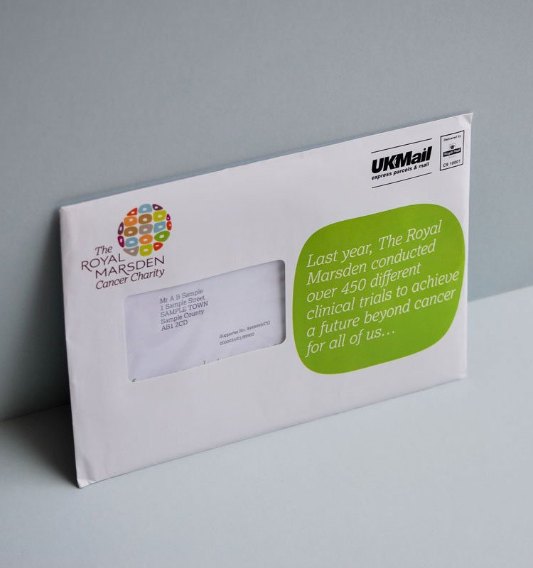 Fundraising DM pack about clinical trials outer.