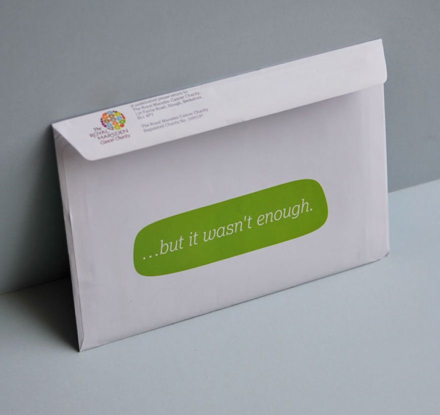 Clinical trial DM pack envelope.