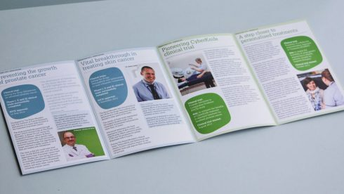 Fundraising DM pack Clinical trials leaflet.