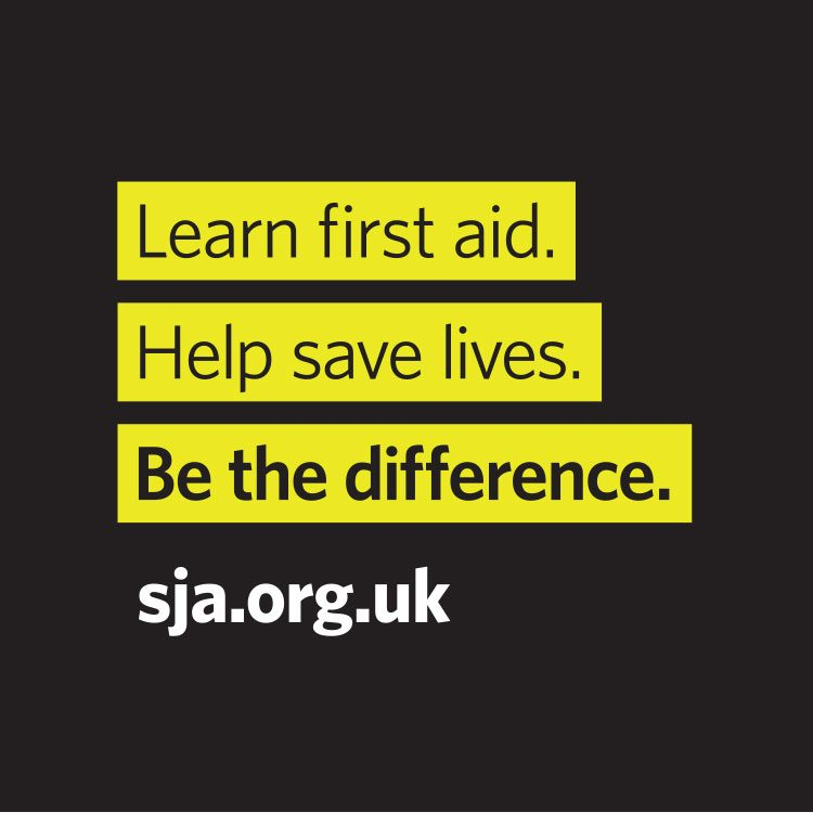 Brand implementation St John Ambulance brand strap line which also doubles up as a call to action.