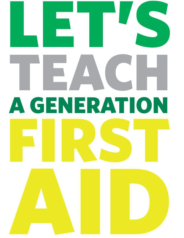 St John Ambulance Let's teach call to action.