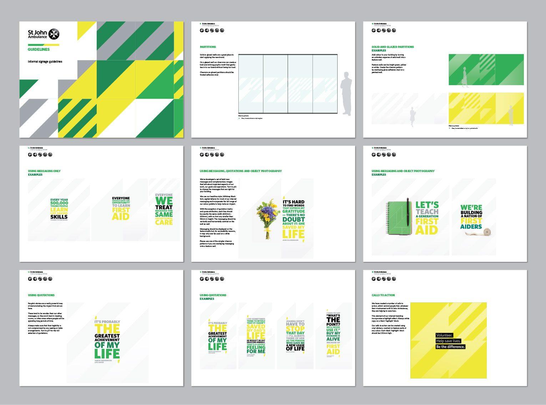 St John Ambulance brand guidelines.