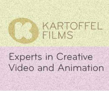 Web banner for Kartoffel Films experts in creative video and animation.
