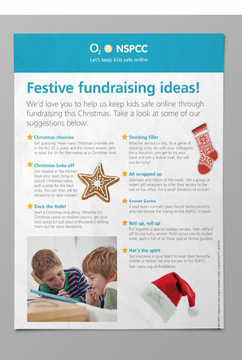 Christmas fundraising poster for NSPCC and O2.
