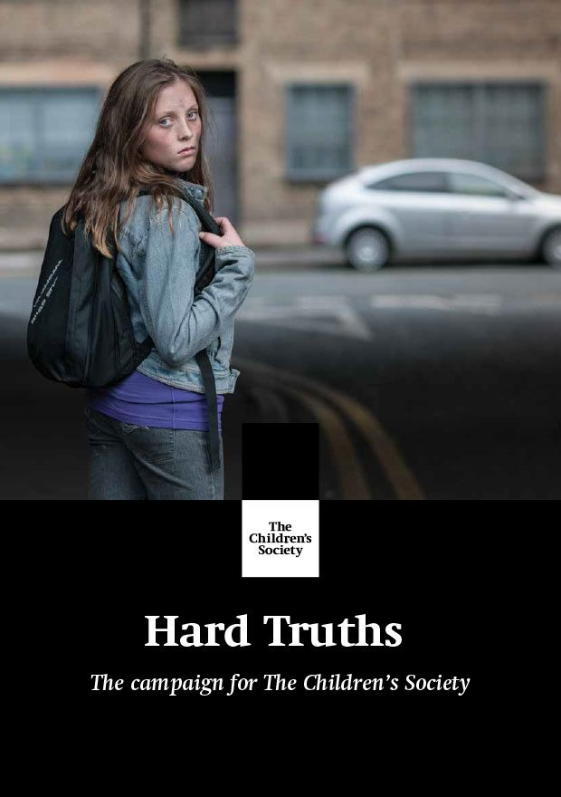 Major donor fundraising - neglected teenage on the cover of the Hard Truths campaign cover.