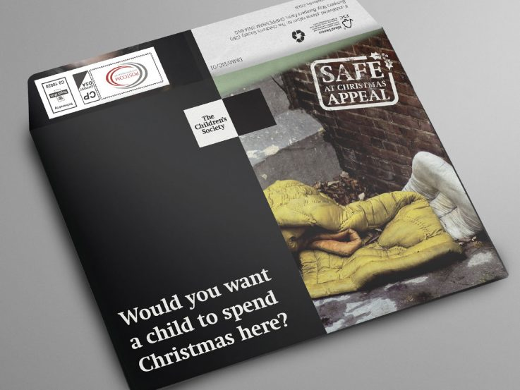 Christmas charity appeal outer of filthy duvet on the Safe at Christmas appeal.