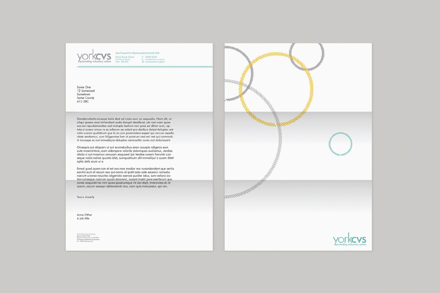 Changing brand perceptions letterheads.