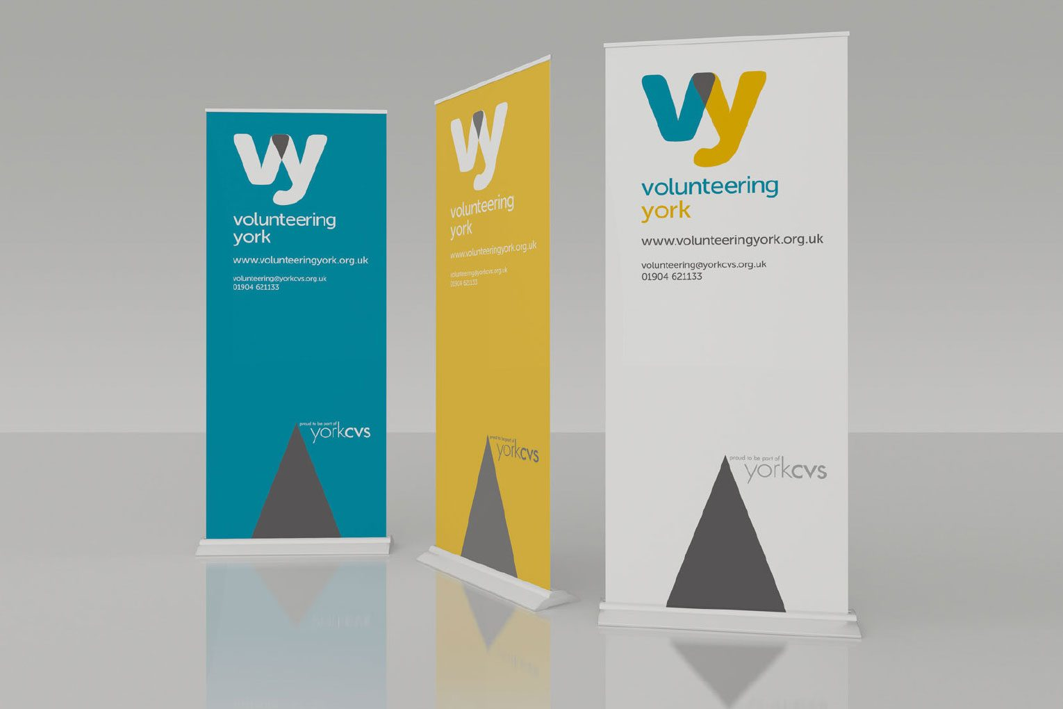 Branded pull up banners.