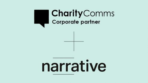 Charity Comms logo and Narrative logo