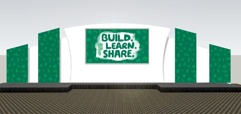 Volunteer conference branded stage design.