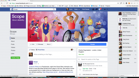 Scope paralympic emoji designs for Facebook page.