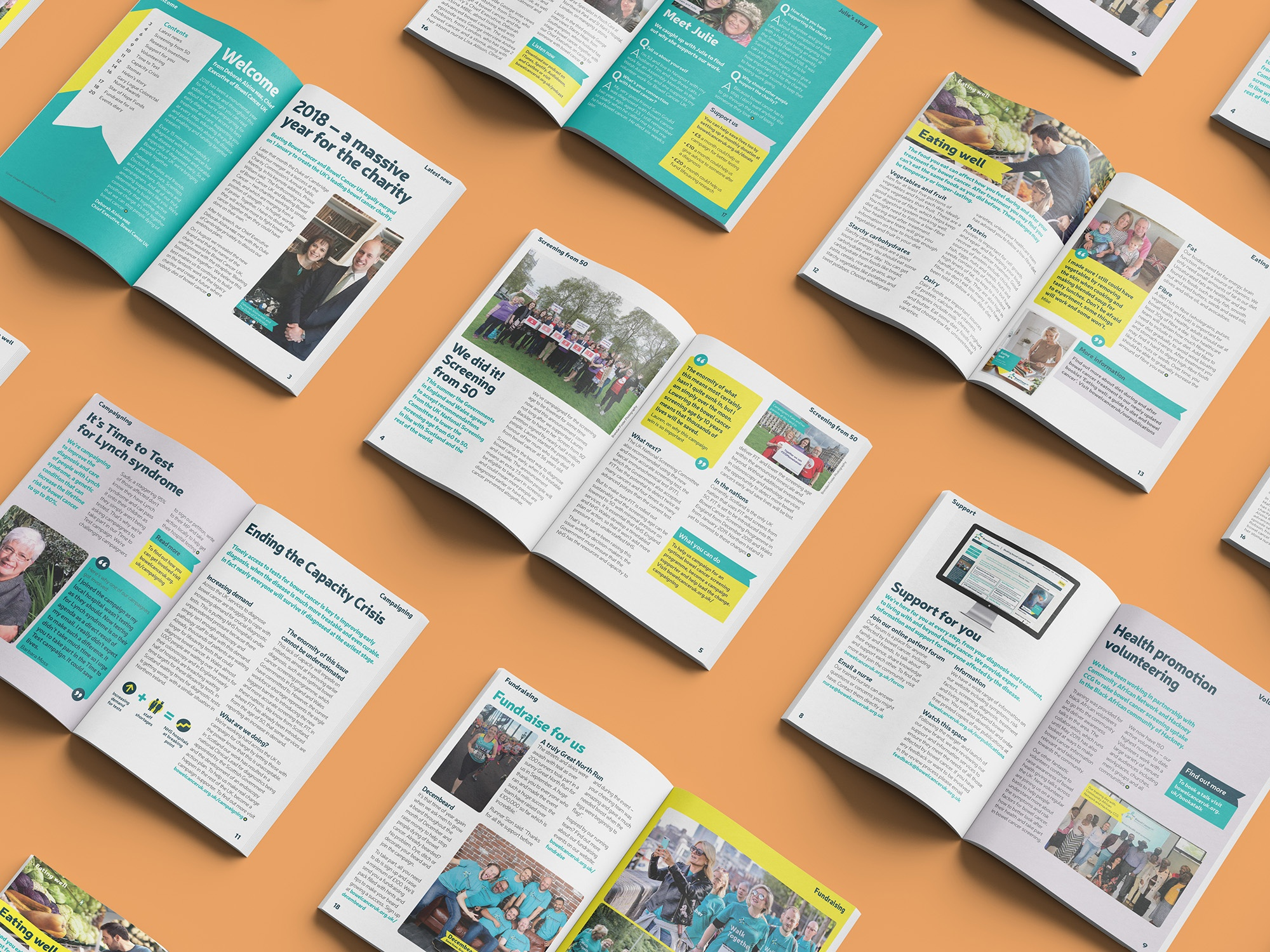 An image showing lots of spreads from the magazine