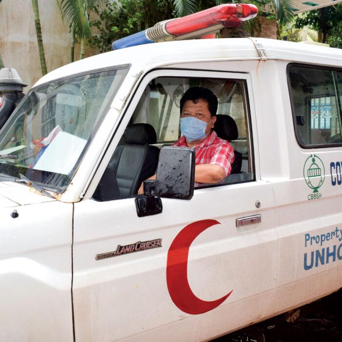 Orbis eye care worker Biswajit during the coronavirus pandemic