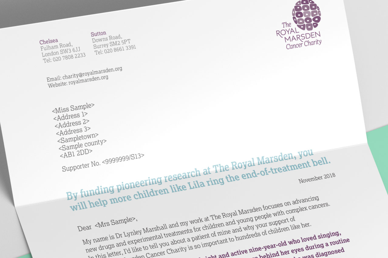 Image of the letter showing leading headline and welcoming introduction