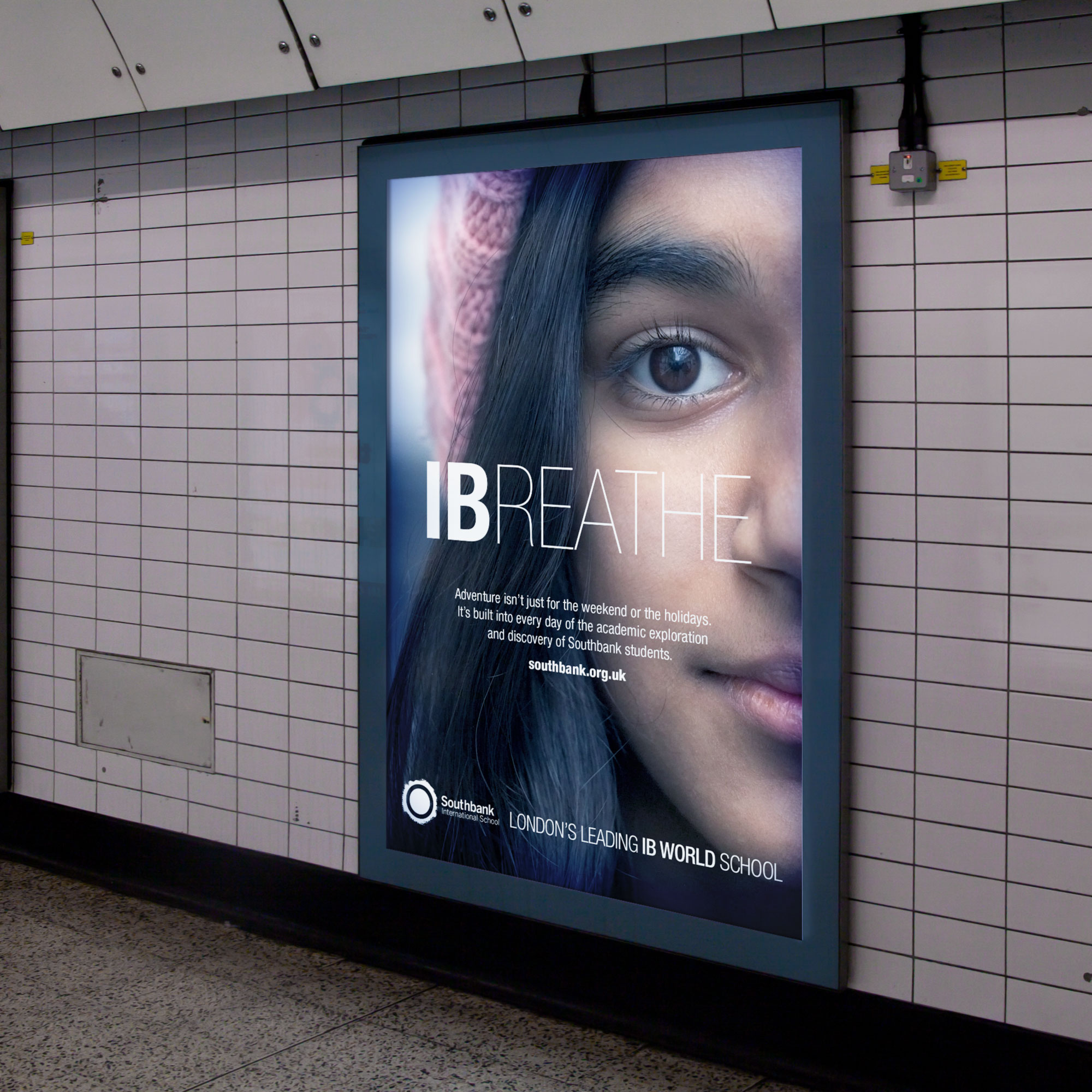 Image showing the campaign advertising in a tube station