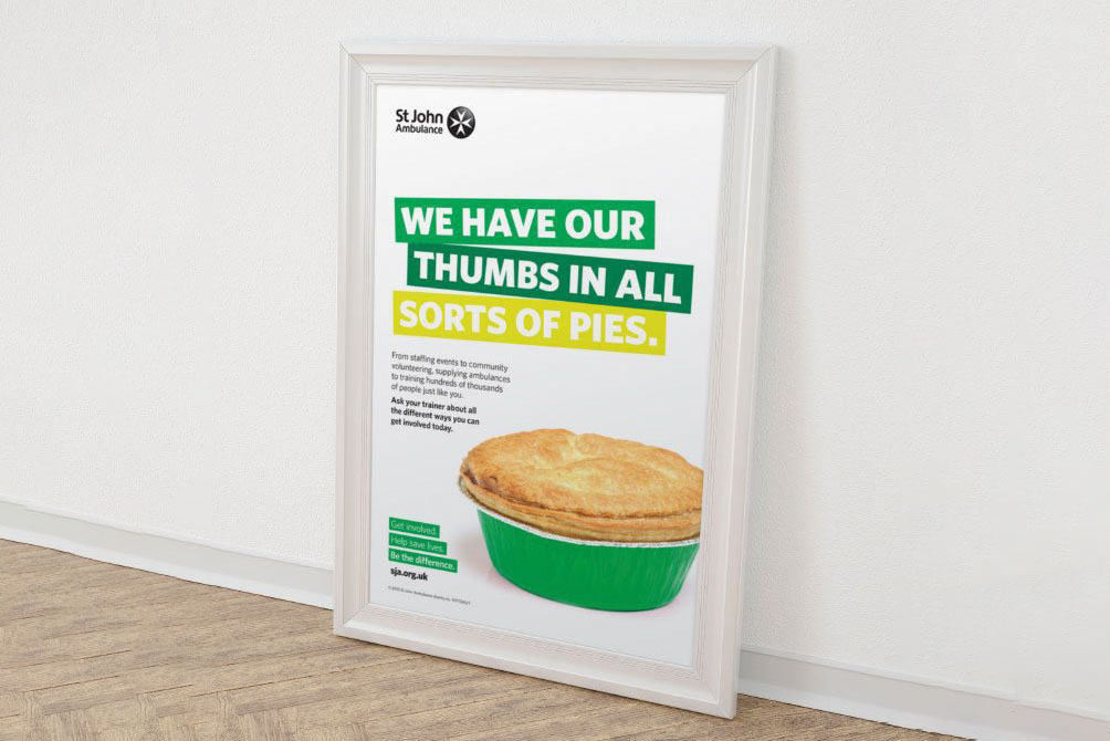Image showing poster campaign using the new brand identity