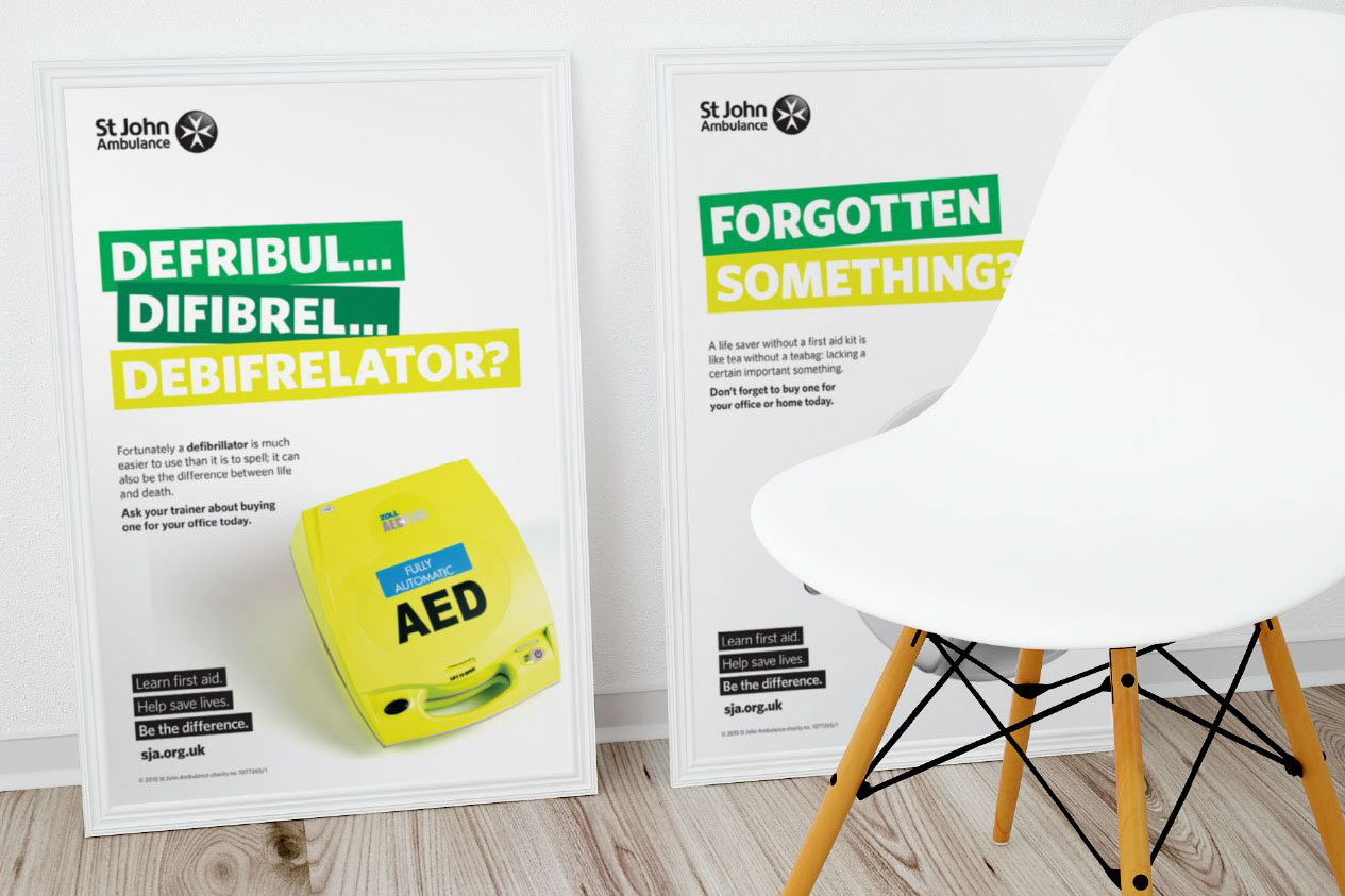 Image showing posters for a campaign using the brand identity