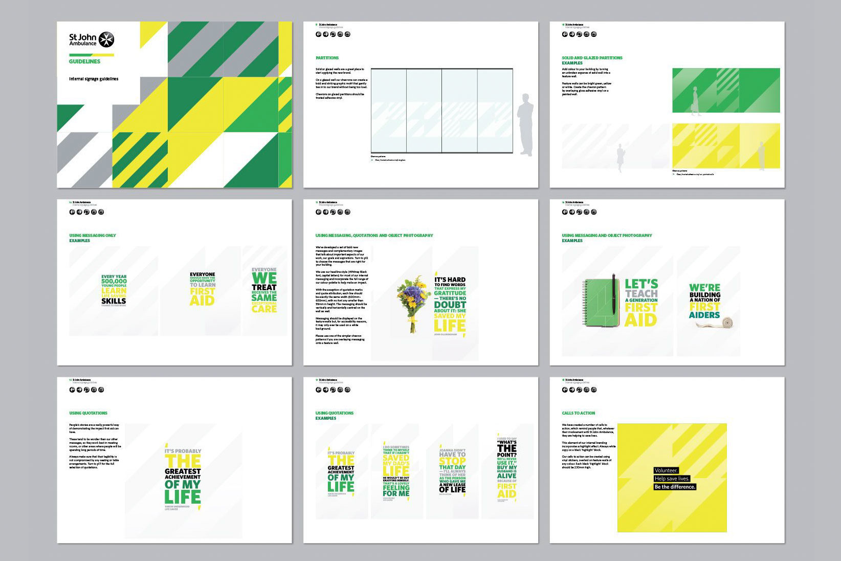 Image showing pages from the brand guidelines